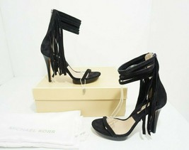 Michael Kors Daphne Women's Platform High Heels Black Suede Sandals US 7 M $495 - $154.09