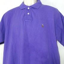 Polo By Ralph Lauren Polo Shirt Men Size L Golf Pima Cotton Pique Purple - $12.86