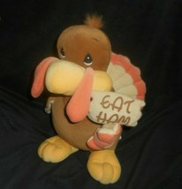 "13"" ENESCO PRECIOUS MOMENTS TURKEY THANKSGIVING TENDER TAIL STUFFED ANIM... - $22.96"