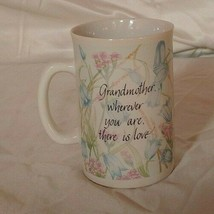 "RUSS BERRIE 4"" Grandmother Is Love Flowers 8 OZ Coffee Mug Tea Cup - $14.97"