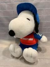 "SNOOPY Peanuts MetLife 10"" Plush Race Car Driver Stuffed Toy Racing - $9.89"