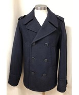 American Eagle Outfitters AEO  Navy Blue Wool Blend AE Peacoat Men's NEW - $73.26