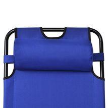 vidaXL 2x Folding Sun Loungers Reclining Chairs 3 Positions Sunbeds 3 Colors image 8