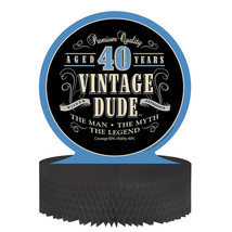Vintage Dude Honeycomb Centerpiece 40th, Case of 6 - £28.72 GBP