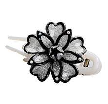 Elegant Flowers Pattern Hair Clip Acrylic Duck Bill Hair Clip 1 piece, B... - $269,10 MXN