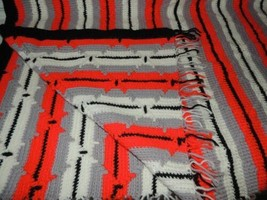 """Vintage Afgan/Throw 40""""x60"""" hand made Crochet Knitted 1970's southwester... - $17.99"""