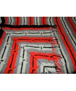 """Vintage Afgan/Throw 40""""x60"""" hand made Crochet Knitted 1970's southwester... - $22.49"""