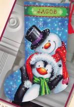 Dimensions Polar Pals Snowman Penguin Christmas Needlepoint Stocking Kit... - $52.95