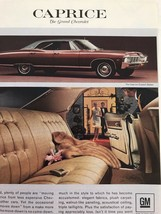 Print Ad Vtg 1967 Advertising Chevrolet Caprice Lady With Fur Coat - $8.90