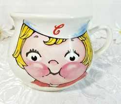 Large Campbell's Kid Face Soup Mug Soup Mug Bowl Vintage 1998 16 oz Bowl