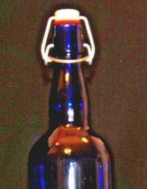 Blue Cobalt Bottle with Porcelain Swing AA19-1573 Vintage image 4