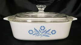 Vintage Corningware Cornflower Blue 1 Qt. Casserole With Glass Lid (1957-88) - $36.00