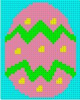 Easter Egg Afghan Doily or Wall Hanging