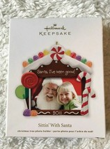 Hallmark Keepsake Sittin With Santa Christmas Photo Ornament New - $9.89
