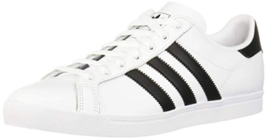 adidas Originals Men's Coast Star Sneaker, White, Black, 11 Medium, Bran... - $64.99
