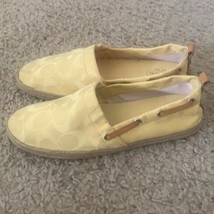 Coach Janita Yellow Logo Espadrille Flats Size 6  - $40.00
