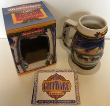 Budweiser Holiday Stein 2000 Holiday in the Mountains Christmas Mug Clyd... - $11.88