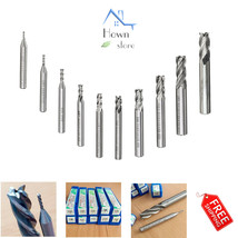 4 Flute Straight End Mill Cutter Set of 10 Tool Home Hand Tools Power Tools - $25.99