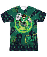 Authentic DC Green Lantern Sector 2814 Sublimation Allover Front T-shirt top - $26.99 - $31.99