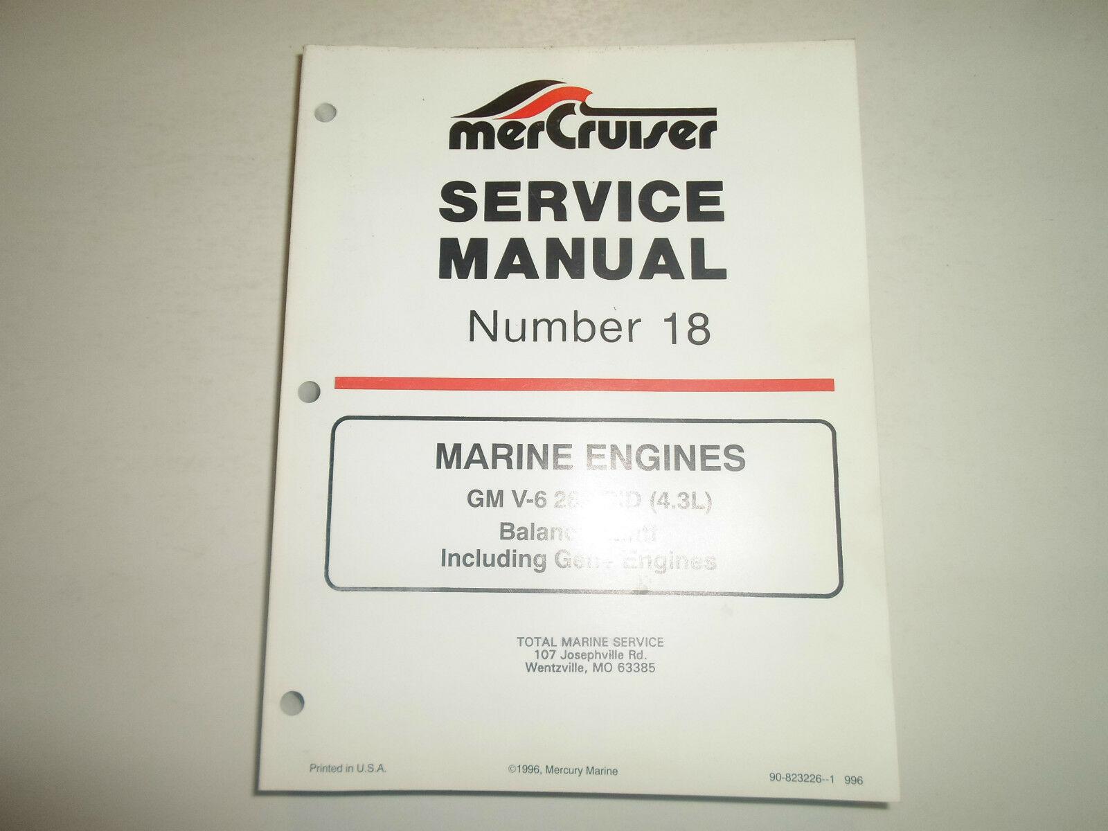 1996 Mercruiser #18 Marine Engines GM V6 262 Cid Balance Schaft Service Manuell