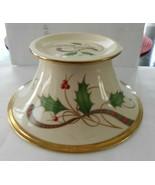 "Lenox Holiday Nouveau Gold Christmas Bon Bon Bowl 6 /1/4"" candy dish - $34.64"