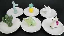 "Ceramic Ring Figurine Dishes 4""H x 3""D, Select: Figurine - $3.49"