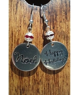 Christmas Happy Holidays and Noel Earrings with... - $19.99