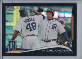 MIGUEL CABRERA 2014 Topps Chrome Update Black Refractor #22/99 #MB-37 (E... - $8.96