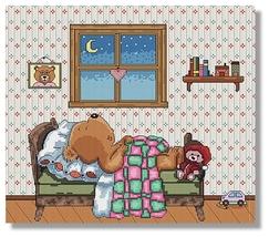Sweet Dreams bear cross stitch chart SDG Designs - $9.45