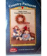 Pattern Apple Anna Coaster Doll & Wood Doll Chair - $5.00