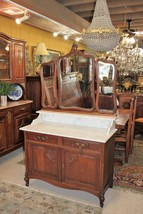 French Oak Louis XV Dresser With 2 drawer & 2 Doors / Washstand / Sink. - $2,232.50