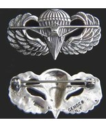 WWII US Paraglider Wing Badge Gemsco Sterling Silver            - $60.00