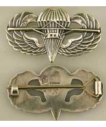 WWII US Paraglider Wing Badge British design Sterling Silver     - $60.00
