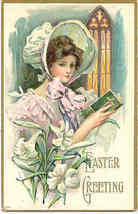 An Easter Greeting Vintage 1909 Post Card - $6.00
