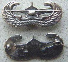 WWII (post) US Glider Wing Badge Japan Sendi Sterling       - $60.00