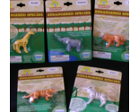 Endangered Species Set of 5 Grow Pals Elephant Zebra Tiger Lion Giraffe New NIP