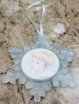 Disney Cinderella Snowflake frosted glass ornament Christmas 2000 - $8.79