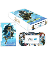 Nintendo Wii U Console Skin Zelda Breath of the Wild Vinyl Skin Decals S... - $12.00