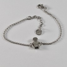 SILVER 925 BRACELET JACK&CO WITH CHILD STYLIZED AND ZIRCONIA CUBIC JCB0858 - $63.18