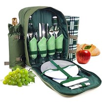 Bringalong green1 Picnic Backpack for 4 Persons with Cooler Compartment,... - €32,35 EUR