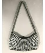 Escama Studio Metallic Upcycled Soda Can Tab Silver Aluminium Clutch Purse Rare - $64.34