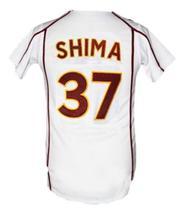 Motohiro Shima Rakuten Eagles Baseball Jersey Button Down White Any Size image 2
