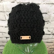 Fall Code Unisex One Sz Hat Dark Gray Knotty Chunky Knit Loose Fit Beani... - $16.82