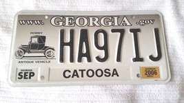 Georgia Specialty Antique Vehicle License Plate (2006) HA971J Catoosa Co... - $19.30