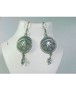 MOON STAR ANGEL Dangle EARRINGS in Sterling - Artisan signed - 1 7/8 inc... - $48.00