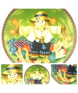 """HAPPY HARVEST- Scarecrow Round Chop Plate By WCL 12 1/2"""" D - £17.99 GBP"""