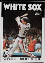 1986 Topps Baseball Card, #123, Greg Walker, Chicago White Sox - $0.99