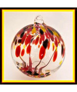 """Hanging Glass Ball 4"""" Diameter """"Vermont Fall Tree"""" Witch Ball (1) WB112 - $14.26"""