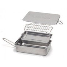 Camerons Mini Stovetop Smoker Stainless Wood Chip Box Gas Electric Grill... - €34,47 EUR