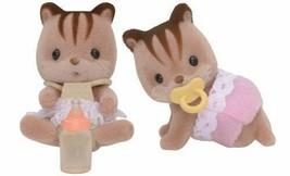 Sylvanian Families Doll walnut squirrel Twins LI-37 by Epoch - $12.11